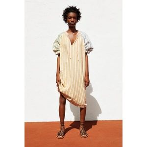 Zara Multicolored Striped Rustic Blogger Dress
